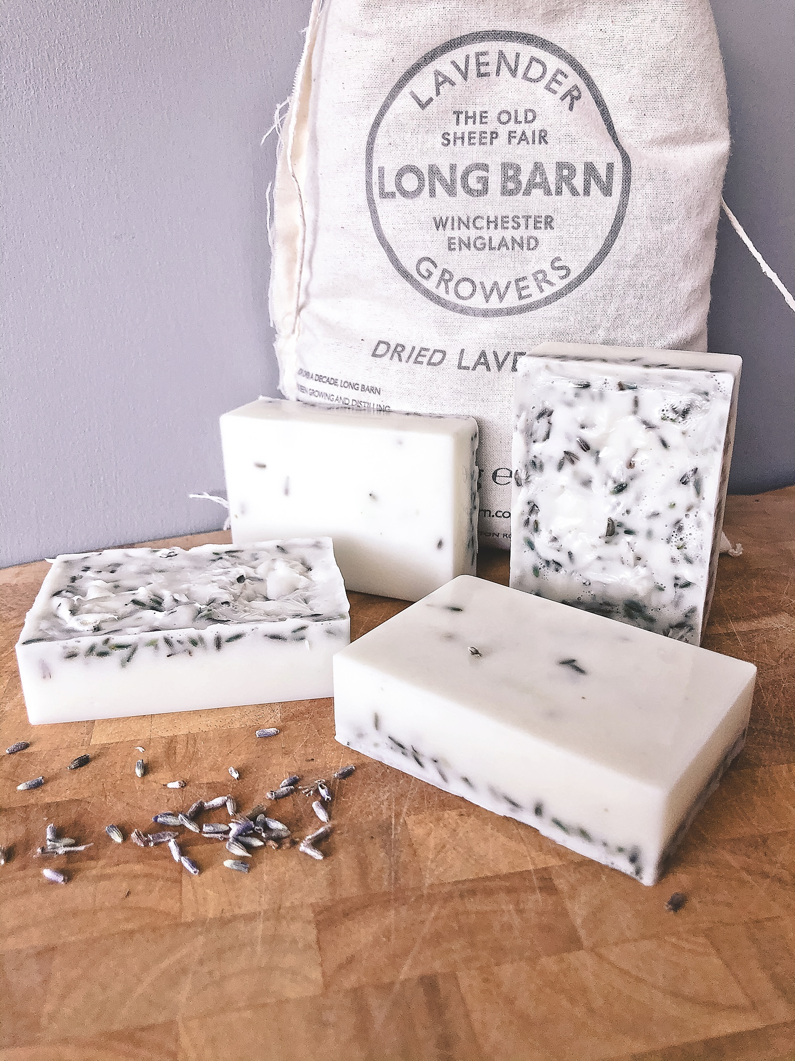 Easy make your own soap with English lavender